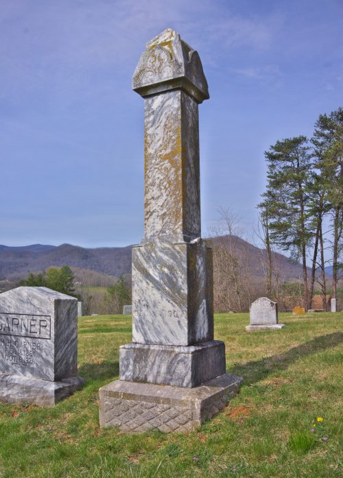 This old grave marker dates back to the original section of Bethel Community Cemetery in Haywood County, NC.