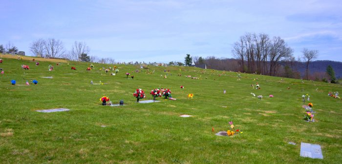 Picture overlooking the new sections of Bethel Community Cemetery, between Canton and Waynesville NC.